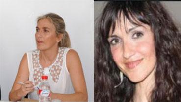 María Remedios Olmedo y Patricia Fernández, candidatas de PP e IU a la alcaldía de Estepa.
