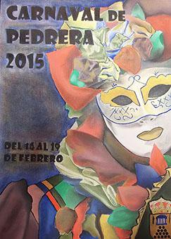 Cartel anunciador del carnaval en Pedrera este año