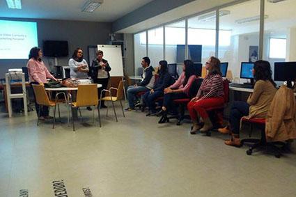 Presentación del curso de Vídeo-Currículum, el pasado viernes.