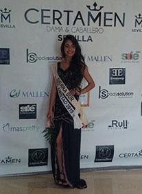 Cintia Roldán, de Herrera, en el certamen de ayer. Foto: Twitter de la joven.