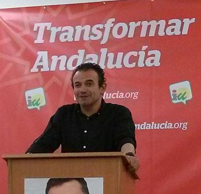 Carlos Querol, candidato a la alcaldía de Osuna por IU.