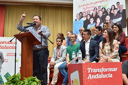 Fidel Romero, el pasado domingo, en la presentación de su candidatura.