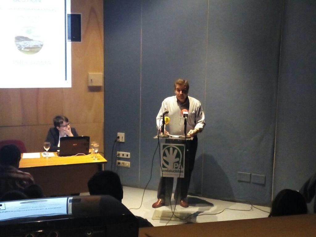 Miguel Fernández, en un momento de su intervención.  Foto: @EstepaPA