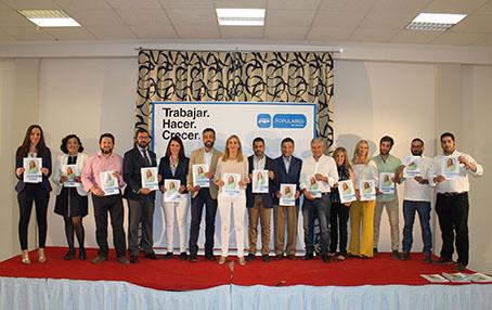 Candidatos del PP de Estepa a las elecciones municipales.