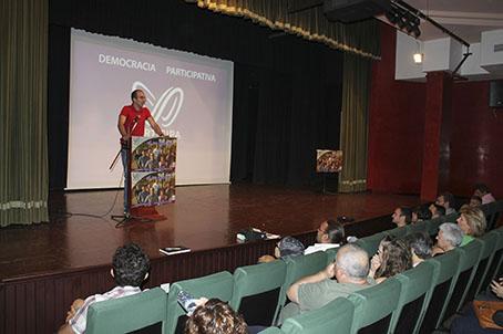 Santiago Amador, en un momento de su intervención.