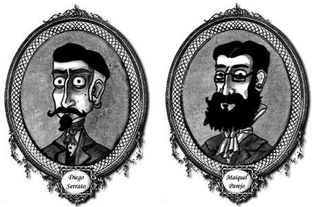 Caricaturas de los autores, Parejo y Serrato