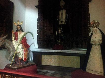 Imágenes titulares de la Hermandad del Dulce Nombre de Osuna. Foto: Remedios Camero.