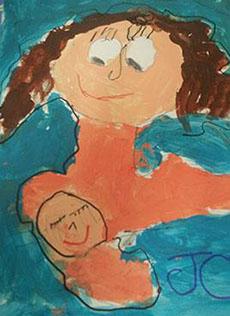 Una de los cuadros pintados por alumnos de Infantil a lo largo del trimestre. Autor: JMC