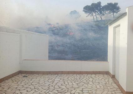 Imagen de la zona afectada por el fuego. Foto: redes sociales.