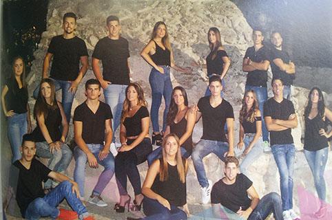 Foto de los candidatos 2015 a rey y reina de las fiestas, publicada en revista de feria de Estepa