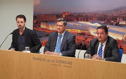 De izquierda a derecha, Juan José Martín, Julio Coca y Miguel Ballesteros.