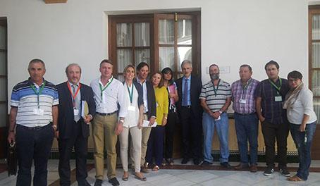 Alcaldes y concejales de algunos pueblos de la Sierra Sur, hoy en Sevilla