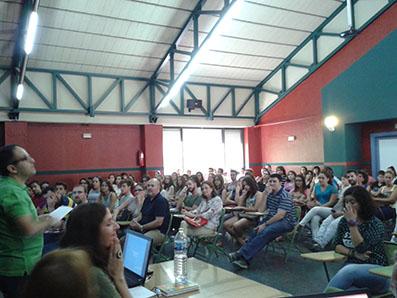 Acto de inauguración del curso en la EOI Estepa, el pasado martes.