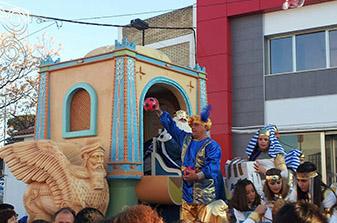 Melchor en la cabalgata de Reyes de Estepa, hoy