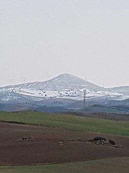 Foto del Cerro de la Gomera en Osuna, esta mañana